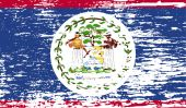 Flag of Belize with old texture. Vector — Stock Vector