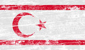 Flag of Turkish and Northern Cyprus with old texture. Vector — Stock Vector