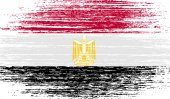 Flag of Egypt with old texture. Vector — Stock Vector