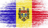 Flag of Moldova with old texture. Vector — Stock Vector