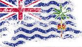 флаг британской территории в индийском океане со старой структурой. вектор — Cтоковый вектор
