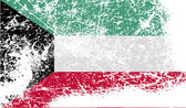 Flag of Kuwait with old texture. Vector — Stock Vector