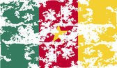 Flag of Cameroon with old texture. Vector — Vector de stock