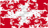 Flag of Switzerland with old texture. Vector — Stock Vector