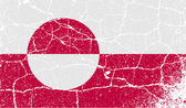 Flag of Greenland with old texture. Vector — Stok Vektör