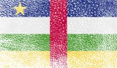 Bandeira da República Centro-Africana com textura velha. Vector — Vetor de Stock
