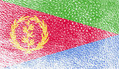 Flag of Eritrea with old texture. Vector — Stock Vector