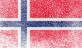 Flag of Norway with old texture. Vector — Stock Vector