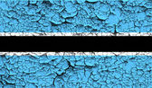 Flag of Botswana with old texture. Vector — Vector de stock
