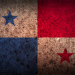 Flag of Panama with old texture. — Stock Vector #64405393