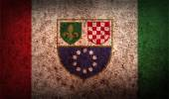 Flag of Bosnia and Herzegovina Federation — Stock Vector