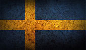 Flag of Sweden with old texture — Stock Vector