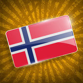 Flag of Norway on retro background — Stock Vector