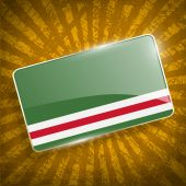 Flag of Chechen Republic of Ichkeria with old texture. Vector — Stock Vector