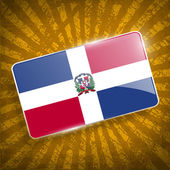 Flag of Dominican Republic with old texture. Vector — Stock Vector