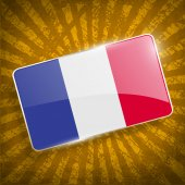 Flag of France with old texture. Vector — Stock Vector