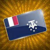 Flag of French Southern and Antarctic Lands with old texture. Vector — Vecteur