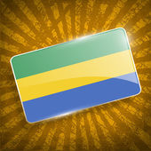 Flag of Gabon with old texture. Vector — Stock Vector