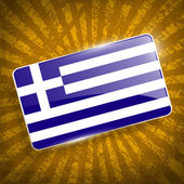 Flag of Greece with old texture. Vector — Stock Vector