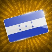 Flag of Honduras with old texture. Vector — Stock Vector