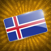 Flag of Iceland with old texture. Vector — Stock Vector