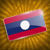 Flag of Laos with old texture. Vector — Stock Vector