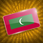 Flag of Maldives with old texture. Vector — Stock Vector