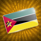 Flag of Mozambique with old texture. Vector — Stock Vector