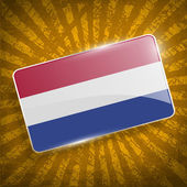 Flag of Netherlands with old texture. Vector — Stock Vector