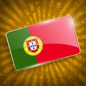 Flag of Portugal with old texture. Vector — Stock Vector