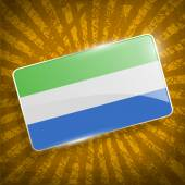 Flag of Sierra Leone with old texture. Vector — Stock Vector