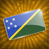 Flag of Solomon Islands with old texture. Vector — Stock Vector