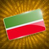 Flag of Tatarstan with old texture. Vector — Stock Vector