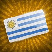 Vlag van Uruguay met oude textuur. Vector — Stockvector