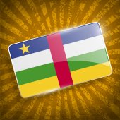 Flag of Central African Republic with old texture. Vector — Stock Vector