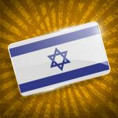 Flag of Israe with old texture. Vector — Stock Vector