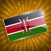 Flag of Kenya with old texture. Vector — Vetor de Stock