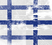 Flag of Finland with old texture. Vector — Stock Vector