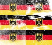 Bayrak silah Almanya eski doku ile. Vektör — Stok Vektör