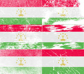 Flag of Tajikistan with old texture. Vector — Stock Vector