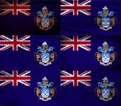 Flag of Tristan da Cunha with old texture. Vector — Stock Vector