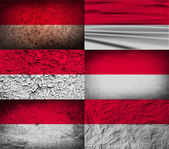 Flag of Monaco with old texture. Vector — Stock Vector