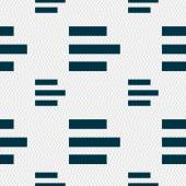 Left-aligned icon sign. Seamless pattern with geometric texture. Vector — Vecteur