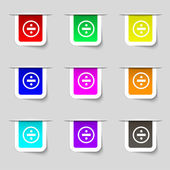 Dividing icon sign. Set of multicolored modern labels for your design. Vector — Stock Vector