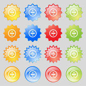 Dividing icon sign. Big set of 16 colorful modern buttons for your design. Vector — Stock Vector