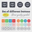 Download, Load, Backup  icon sign Big set of colorful, diverse, high-quality buttons. Vector — Stock Vector #72817073