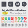 Arrow down, Download, Load, Backup  icon sign Big set of colorful, diverse, high-quality buttons. Vector — Stock Vector #72817283