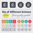 Milk, Juice, Beverages, Carton Package  icon sign Big set of colorful, diverse, high-quality buttons. Vector — Stock vektor #72817351