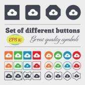 Download from cloud  icon sign Big set of colorful, diverse, high-quality buttons. Vector — Stock Vector
