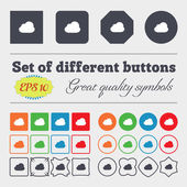 Cloud  icon sign Big set of colorful, diverse, high-quality buttons. Vector — Stock Vector